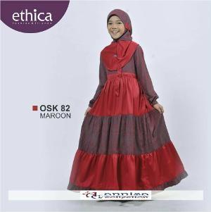 Baju Gamis Anak Ethica OSK 82 Maroon - Ramadhan Sale