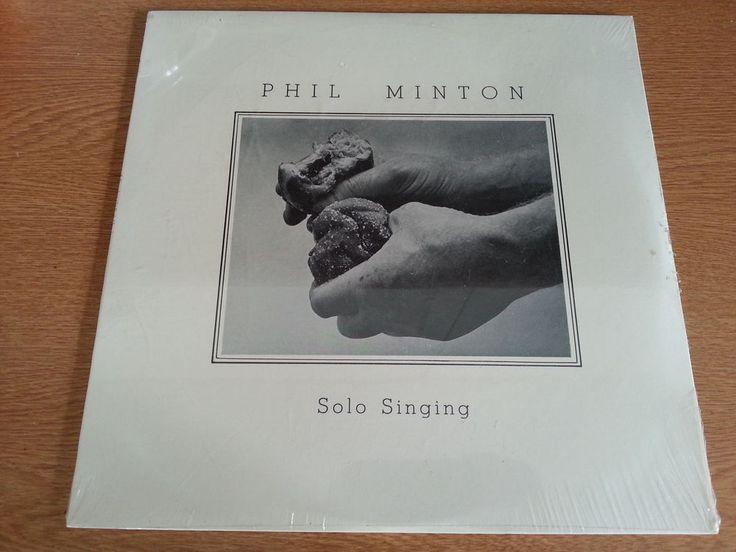 Phil Minton Sealed Vinyl LP Solo Singing (Fred Frith, Eugene Nowacki, Bob Humm)