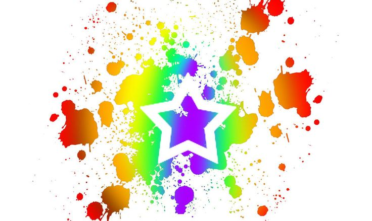 Gallery For Rainbow Paint Splatter Background | Star's ...