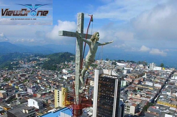 Nueva escultura del Cristo en la Catedral de Manizales