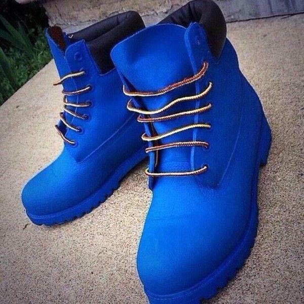 Blue timberland boots