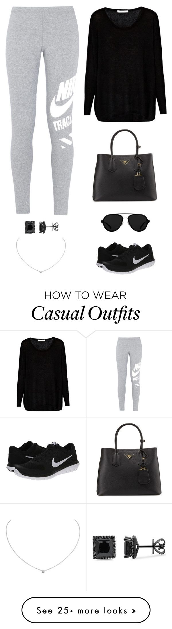 """""""casual/travel"""" by twerkinonmaz on Polyvore featuring Prada, NIKE, Century Seven, 3.1 Phillip Lim and Cartier"""