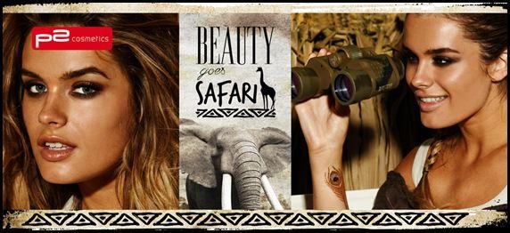 BEAUTY EXPEDITION INTO THE WILD: p2 cosmetics nimmt dich mit auf die große Style-Safari. Ins Visier nehmen wir aber nicht etwa Antilopen, Löwen oder Giraffen am Wasserloch – wir pirschen uns lieber an die neuen Bronzing- und Make-up Highlights von p2 heran.  Passendes Make-up Equipment, exotische Sommerfarben mit Eyecatchergarantie, sandige Nuancen und edel schimmernde Erdtöne sogen für einen perfekten Explorer-Look.