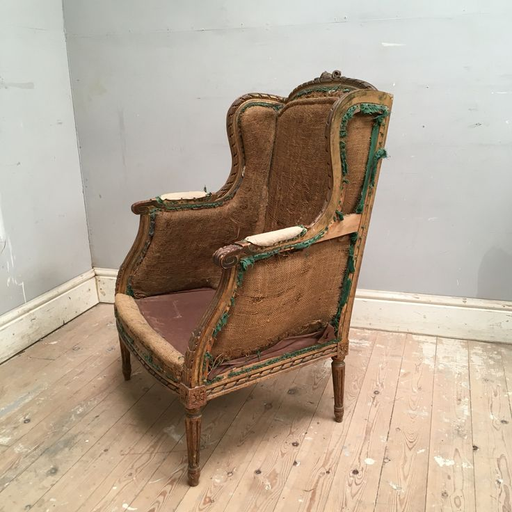 lovely old french wingback chair ready for wingback chairfrench furniture - Naked Furniture