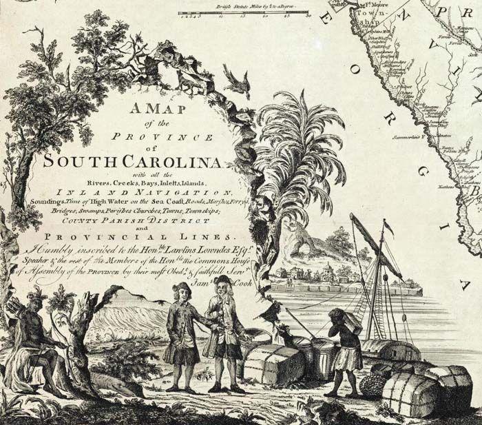 Antique map cartouche