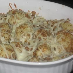 Roasted cauliflower with parmesan and almonds