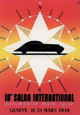 Geneva motor show past posters affiches salon de l 39 auto - Affiche salon de l auto ...