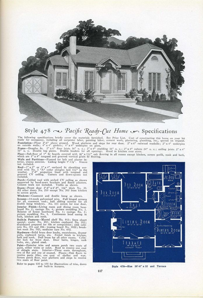 478 1925 pacific ready vintage house plans 1920s for 1925 bungalow floor plan