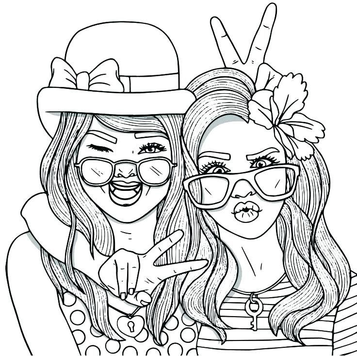 20 Best Best Friend Coloring Pages For Girls In 2020 People Coloring Pages Cute Coloring Pages Cool Coloring Pages