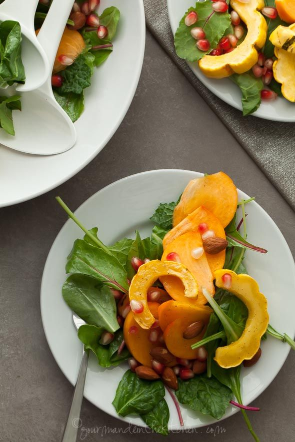 Delicata Squash Salad with Persimmons and Pomegranate ...