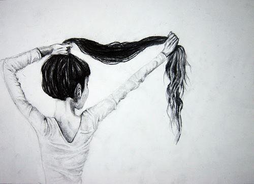 Resultado de imagen para pelo largo negro dibujo