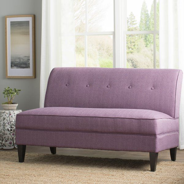 Perseus 58 Armless Loveseat Love Seat Furniture Sofas For Small Spaces