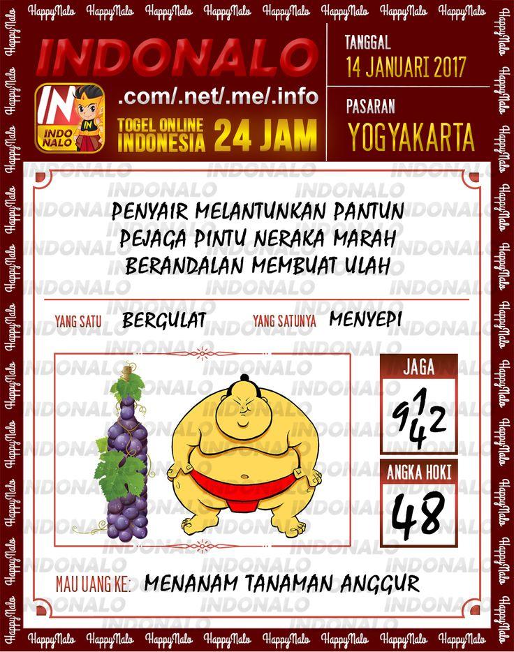 Kode Hoki 2D Togel Wap Online Live Draw 4D Indonalo Yogyakarta 14 Januari 2017