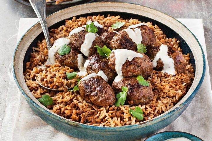 The intoxicating smell of the spiced lamb mince cooking never fails to conjure up illusions of the Middle East, where street vendors serve koftas straight off the grill.