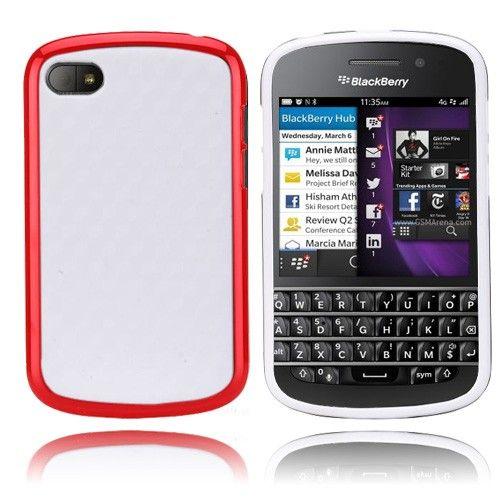 EdgeWhite (Punainen) BlackBerry Q10 Suojakuori