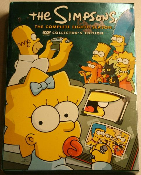 The Simpsons: Season 8 1996-97 Complete Box All Inserts Previously & Viewed Tested Great Near Mint! Collector's Edition.
