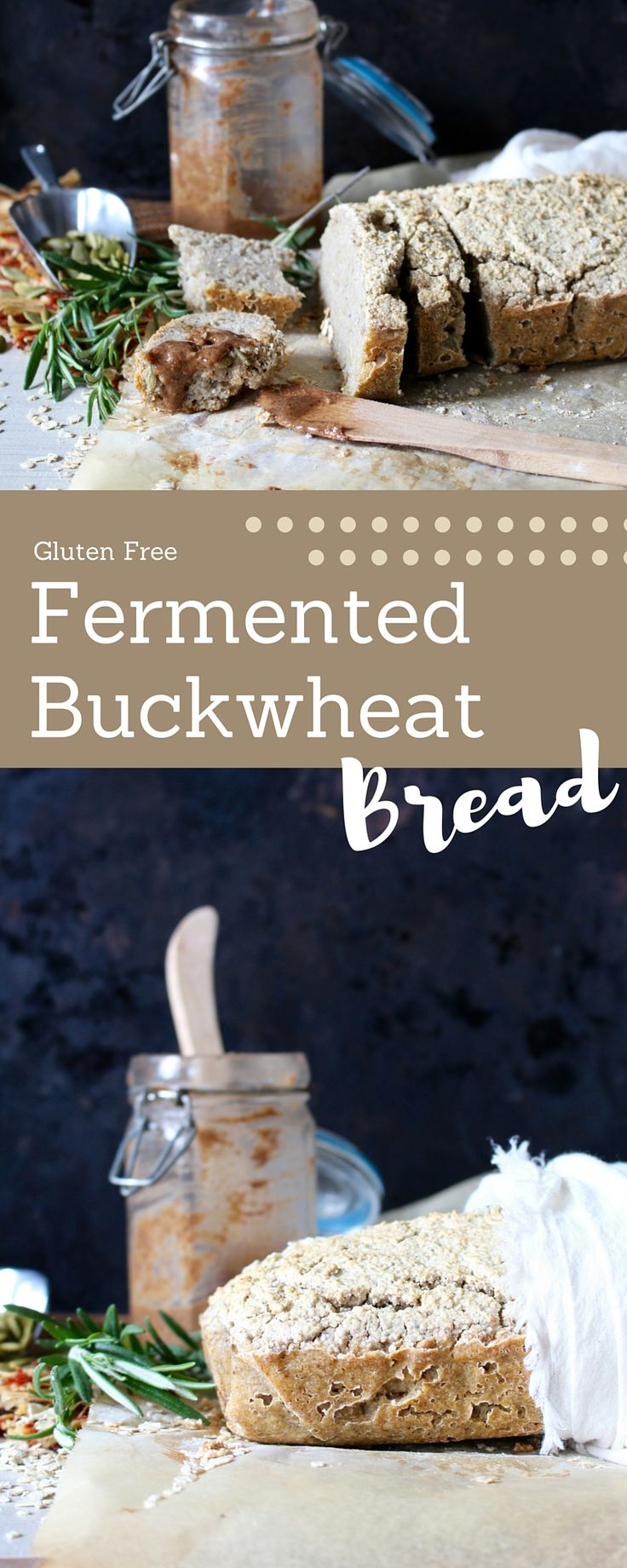 This homemade gluten free bread uses whole food ingredients and is fermented for 3 days before baking, yielding a great bread for promoting good gut health!