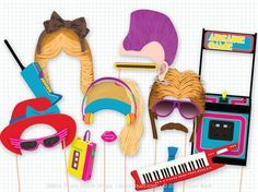 1980s party photo booth props 1980 s photobooth props cassette tape