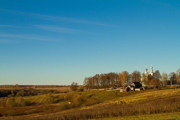 View to church in Pokrovskoe village 1