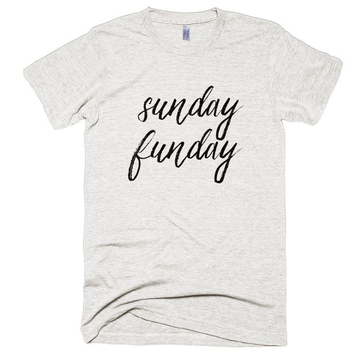 Sunday Funday Shirt | Women's Tri-Blend T-Shirts