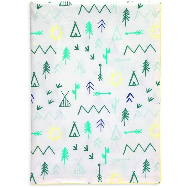 Meri Meri Camp Ground twin size duvet cover ($175) ❤ liked on Polyvore featuring home, bed & bath, bedding, duvet covers, meri meri and patterned bedding