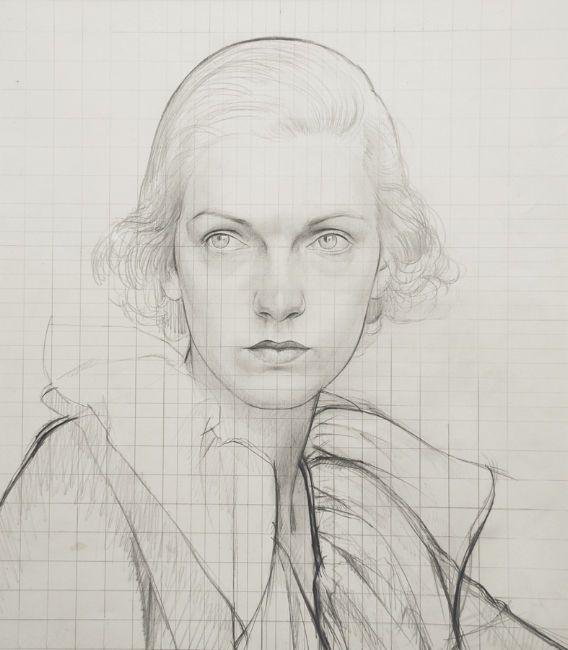 Bernard Boutet de Monvel) - Woman with White Ruffled Collar, 1930's