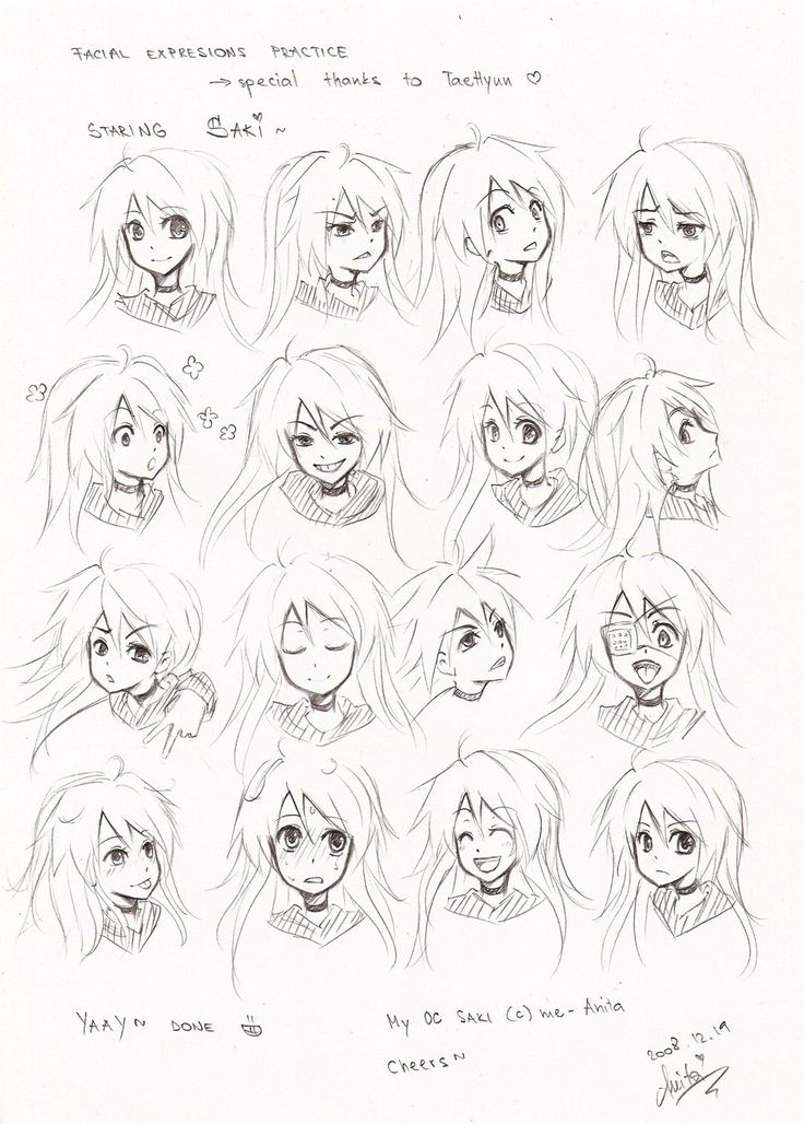 how to draw anime face peter grey