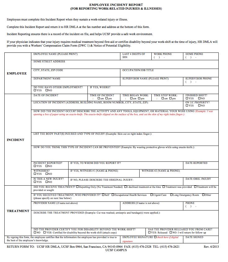 Free Incident Report Template - http\/\/resumesdesign\/free - incident report templates