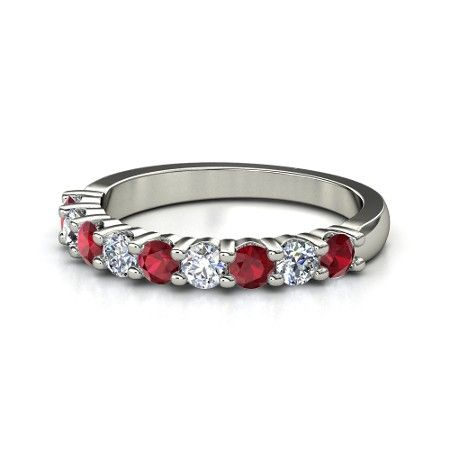 ... want for a wedding band. Ruby is my birthstone and red is my fav color