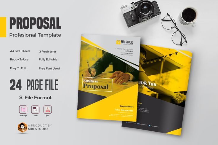 Presenting Your Proposal By Our Creative Proposal Template  File Format Include :  Adobe InDesign Adobe Idml Adobe PDF A strong and persuasive proposal with attractive, professional appearance is what you need to sell your projects. This Project Proposal is designed to show the process used to implement the project, what steps you will take to manage the project and the resources you will need.