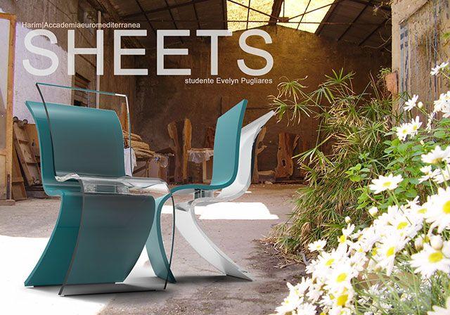 Sheets, la #seduta di Evelyn Pugliares, studentessa di Interior & Industrial Design all' #Harim #AccademiaEuromediterranea