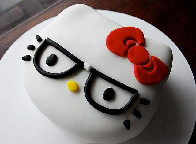 Nerd Hello Kitty Cake by Animated Cupcakes, via Flickr