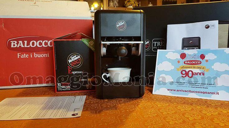 """Macchina Caffè Vergnano Trè Mini con """"Arrivaci tu così a 90 anni"""" - http://www.omaggiomania.com/premi-ricevuti/macchina-caffe-vergnano-tre-mini-arrivaci-tu-cosi-a-90-anni/"""