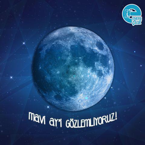 Arkadaşlar bugün çok nadir doğa olayı gerçekleşiyor: Mavi Ay! Mavi ay nedir? Dünyamızın bir sene içerisinde 12 dolunay döngüsü vardır yani her ay bir kez dolunay görürüz fakat çok nadiren, 100 yıl içerisinde 5 kez 13. dolunay gözükür. O zamanda bir ay içerisinde 2 tane ay görmüş oluruz. O tarihte bugüne denk geliyor! Temmuz ayında 2. kez dolunay göreceğiz .Bu akşam gözlemlemeyi unutmayın! Bir sonraki mavi ay 2018 yılında! #EnerjiÇocuk #MaviAy #BlueMoon #ilginçhaber