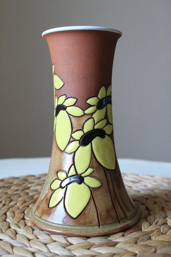 Sunflower vase by TerrysPotteryShop on Etsy
