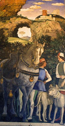 Camera degli Sposi, Mantegna Palazzo Ducale Mantova ANDREA MANTEGNA (Isola di Carturo, 1431 – Mantova, 13 settembre 1506) #TuscanyAgriturismoGiratola