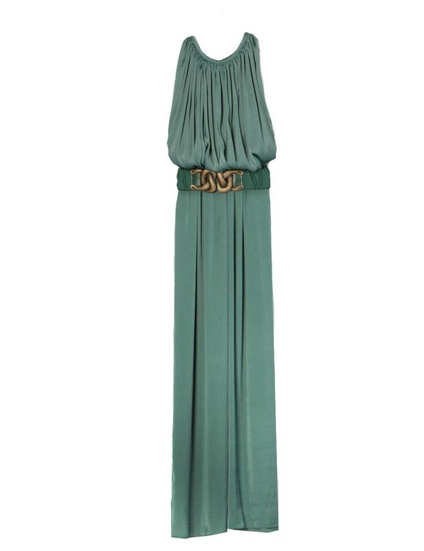 Turquoise green long amazing dress by Hoss Intropia