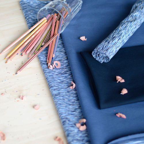 Jersey, Fantasia sininen| NOSH Fabrics Pre Autumn Collection 2016 is now available at en.nosh.fi | NOSH syksyn ennakkomalliston 2016 kankaat ovat nyt saatavilla nosh.fi