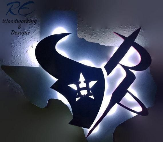 ff8e7016 Houston team Mashup, Astros, texans rockets, Texas shape, Led Sign ...