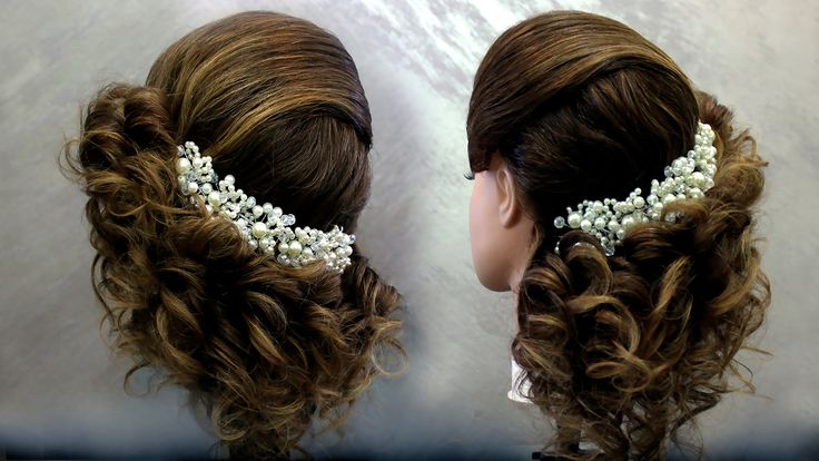 Wom******ty#15245 /Prom curled hairstyle for medium hair