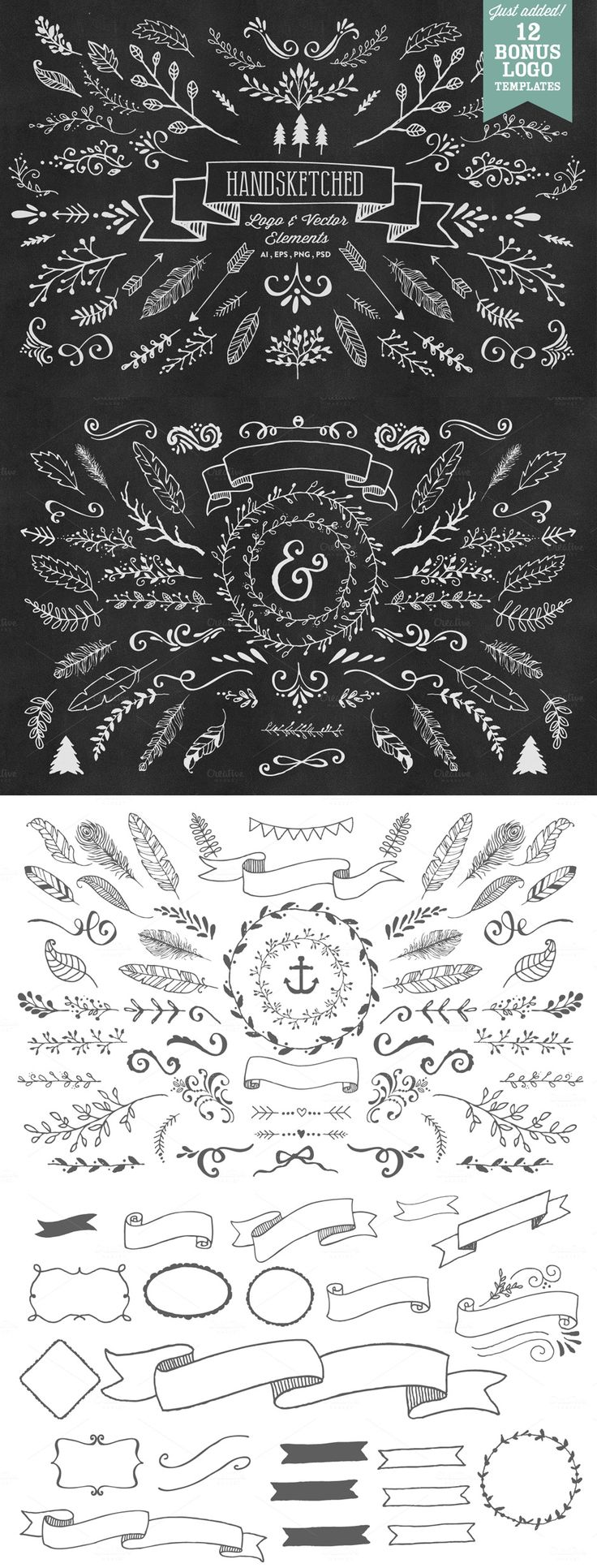 This is just 1 of the 33 sets of designs in the Ultimate Vector Elements Collection - $29 for the next 9 days
