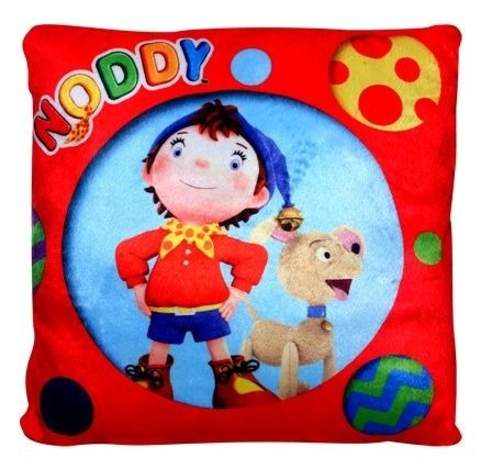 Noddy Square Shaped Cushion- Noddy and Bumpy [TSSTSCNBMP] - ₹299.00 : Toyzstation.in, The online toys store