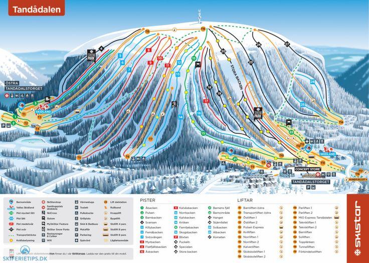 Sälen Tandådalen Piste Map (High resolution / .JPEG) #skiing #skistar #tandådalen #sälen #sweden