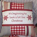 Christmas Carol Cushion
