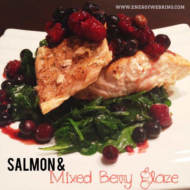 salmon with berry sauce | Health nut | Pinterest