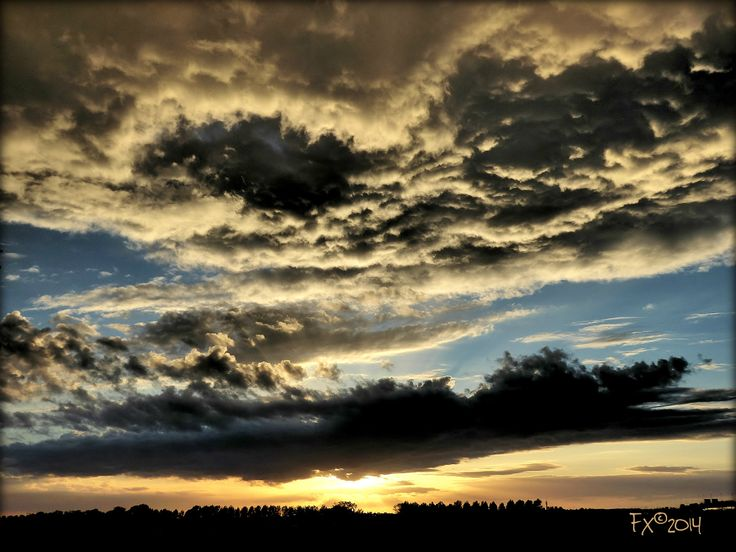 Sunset near Schiphol Airport after thunderstorm [9May2014]