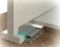Basement Waterproofing Methods   The Water Grabber System Collects Water  From Below The Floor And . Basement SystemsFrench DrainBasement ...