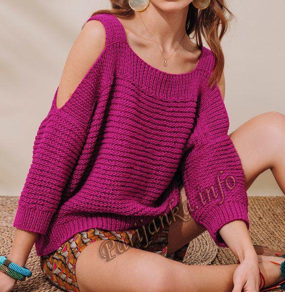 Пуловер (ж) 24*140 Phildar №5001