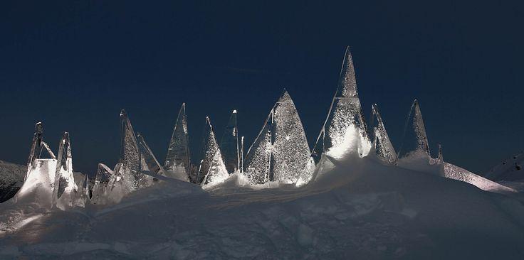 night ICE SKYLINE #DOLOMITI by #MarcoNones - photo Eugenio Del Pero #art