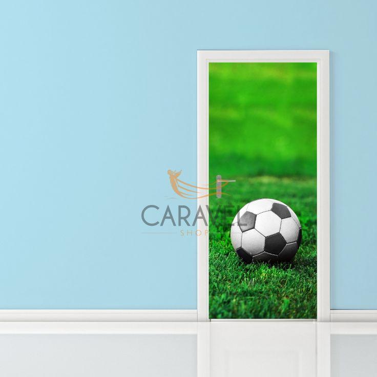 Παιδικό Αυτοκόλλητο Πόρτας μπάλα ποδοσφαίρου